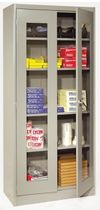 hinged door cabinet with glass doors max. 230 lbs | 1000 series LYON