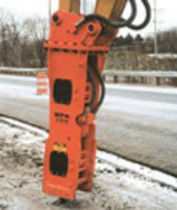 hydraulic breaker for medium size loader  14 - 21 t | E208 NPK Construction Equipment, Inc.