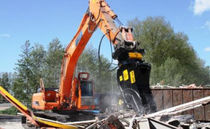 hydraulic crusher for primary demolition HRP series Hydraram B.V.