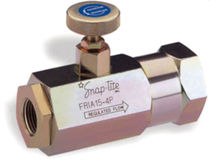 hydraulic flow control valve 1/4&quot; - 1&quot;,  max. 345 bar | FRIA series Parker Snap-tite