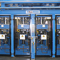 hydraulic press line for friction lining 40 - 120 t IAG Industrie Automatisierungsgesellschaft m.b.H.