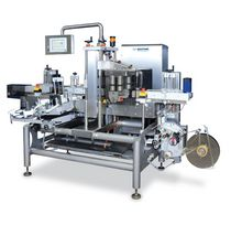 in-line automatic bottle labeler for front-back applications max. 120 p/min | MR425 Multivac