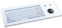 industrial keyboard with trackball 0.6 mm, 3 N, IP65 | KF02020  INDUKEY
