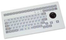 industrial keyboard with trackball 0.3 mm, 2.6 N, IP65 | KS08310  INDUKEY