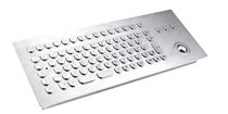 industrial keyboard for public access kiosks and internet terminals InduSteel series INDUKEY