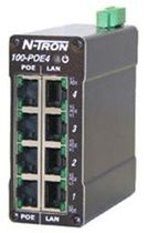 industrial unmanaged Power over Ethernet (PoE) switch 100-POE4 N-TRON