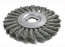 knotted wheel brush  Brush Research Manufacturing