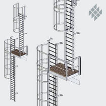 ladder with safety cage  Meiser