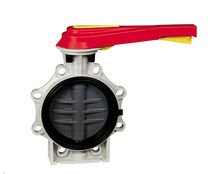 lever operated plastic butterfly supply valve DN 65 - 200, max. 10 bar | K4 series PRAHER VALVES GMBH