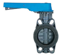 "lever operated plastic butterfly supply valve 1 - 12"", 232 psi 