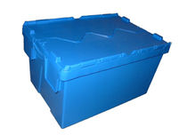 lid stacking nesting container max. 70 l, max. 600 x 400 x 400 mm | 6000 series Plasticos Santo Ant&oacute;nio