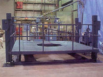 lifting platform for jet engine maintenance max. 2 000 lb | Lift-A-Lift® V-25-AFSMC Tilt-Or-Lift