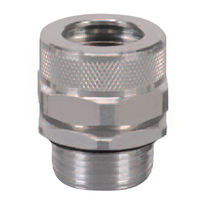 liquid tight aluminium cable gland (straight through, threaded) ø 0.875 - 1.812 in, NPT | Heyco®-Tite   Heyco
