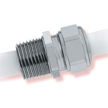 liquid tight nickel plated brass cable gland (straight through, threaded) ø 0.118 - 2.047 in, NPT | Heyco®-Tite   Heyco