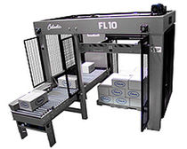 low level infeed palletizer for cases and bundles min. 10 p/min | FL10 Columbia Machine, Inc.