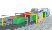 manual powder coating line  Eurotherm