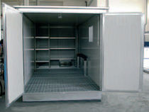 material storage container in galvanised steel  Eurotherm