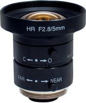 "megapixel resolution objective lens for industrial vision 2/3"", 5 mm, F2.8 
