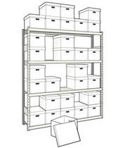 "mini-racking unit for record storage 66"" x 15"" x 75"", 725 lb 
