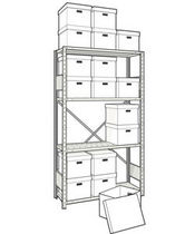 "mini-racking unit for record storage 42"" x 15"" x 75"", 650 lb 