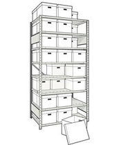 "mini-racking unit for record storage 42"" x 30"" x 87"", 600 lb 