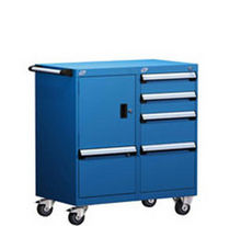 "mobile 5 drawer cabinet 36"" x 21"" x 39¼"", 100 lb 
