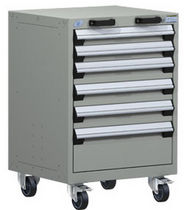 mobile 6 drawer cabinet 24&quot; x 21&quot; x 35&frac14;&quot;, 400 lb | R5BCD-3051 Rousseau Metal