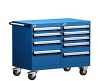 "mobile 9 drawer cabinet 36"" x 21"" x 29¼"", 100 lb 