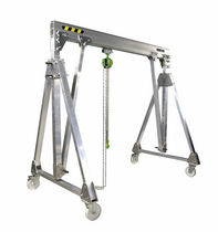 mobile aluminum workshop gantry crane 250 - 2000 kg, 2 - 6 m, 1.55 - 3 m | PADC COMEGE