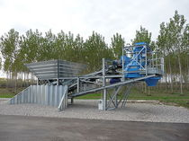 mobile concrete mixing plant 20 - 65 m&sup3;/h | JUMPER series SIMEM ITALIA
