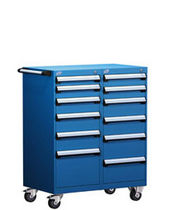 "mobile multi-drawer cabinet 36"" x 21"" x 45 ¼"", 100 lb 