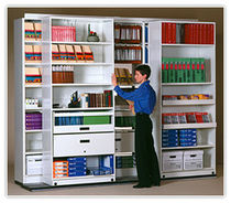 mobile office shelving Quadral Montel