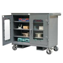 mobile tool storage cabinet with transparent doors  Strong Hold Products