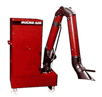 mobile welding fume filter extractor with extraction arm M2150  Micro Air Clean Air Systems