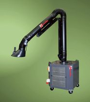 mobile welding fume filter extractor with extraction arm QUAD series Micronfilter s.r.l.