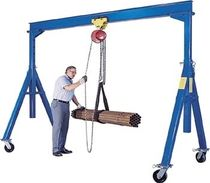 mobile workshop gantry crane 500 - 10 000 lb | FHS, AHS series Vestil Manufacturing