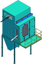 modular bag dust collector: pulse jet 196 - 10000 m² | HCS Eco Instal