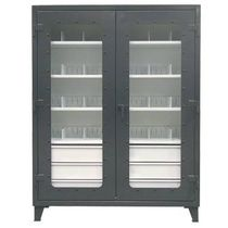 modular cabinet with transparent doors  Strong Hold Products
