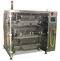 multi-lane V-FFS stickpack bagging machine for liquids HBV4D Masek, Rudolf - packaging and processing machinery