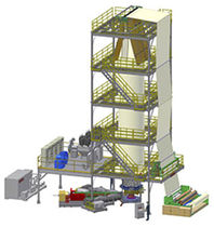 multilayer blown film coextrusion line: geomembranes HDPE, LDPE, PP, PVC | ALPHA GEO Alpha Marathon Technologies Group, Inc.