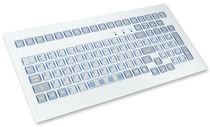 panel mount industrial keyboard 0.3 mm, 2.6 N, IP65 | KS07230 INDUKEY