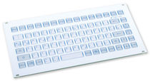panel mount industrial keyboard 0.6 mm, 3 N, IP65 | KF02010 INDUKEY