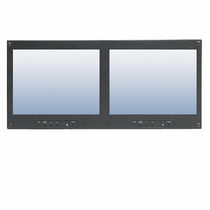 panel mount industrial LCD monitor 2 x 10.4"