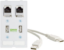panel mount RJ45 connector  MURRELEKTRONIK
