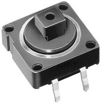 PCB mount push-button switch 0.1 A, 42 V | 70 series EAO