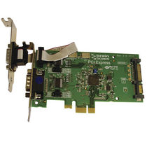 PCI Express bus interface card LP PCIe 1+1RS232 POS 1A SATA | PX-801 Brainboxes