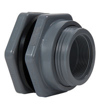 plastic bulkhead fitting 1/2 - 3"