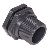 plastic bulkhead fitting 1/2 - 6"