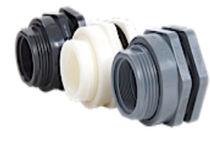 plastic bulkhead fitting 1/2 - 4"