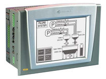 "PLC with integrated touch screen HMI 5.7"", 320 x 240 pixels, RS232, RS485 
